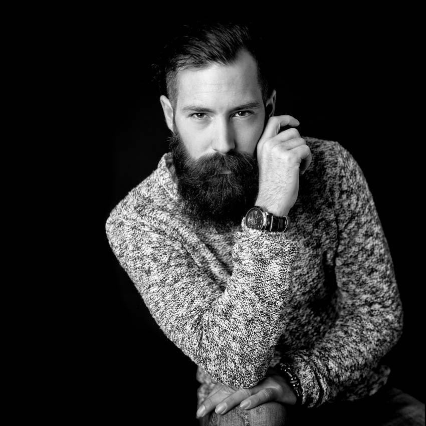 Bart, Mann, Portrait, Düsseldorf, Personal Branding, Karriere