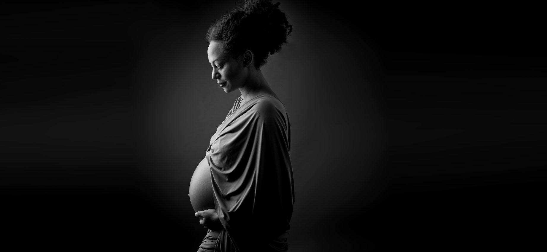 Frau, schwarz, schwanger, portrait, Düsseldorf