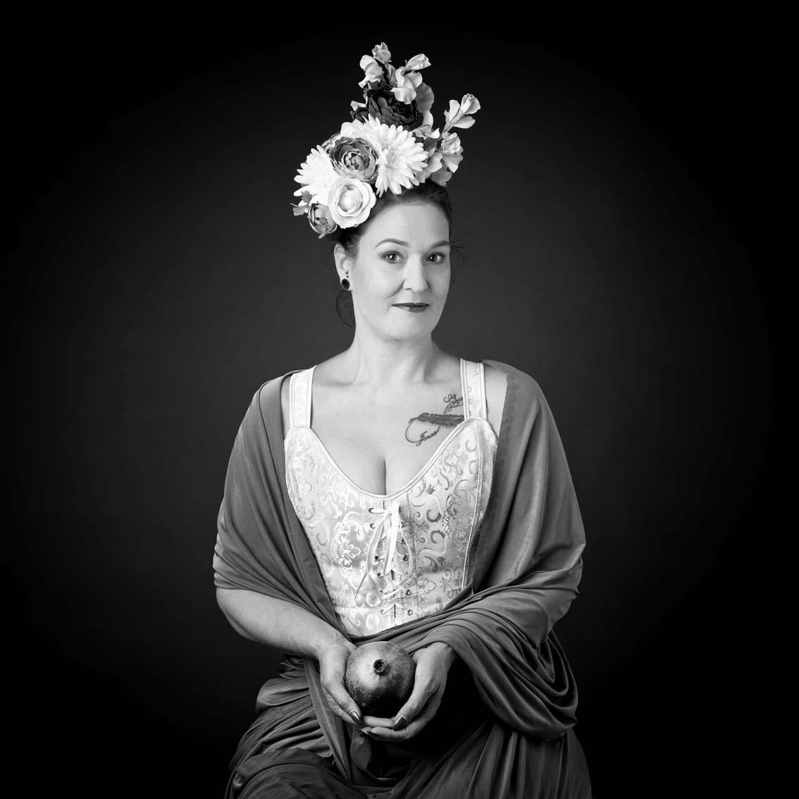 Frau, verkniffen, Portrait