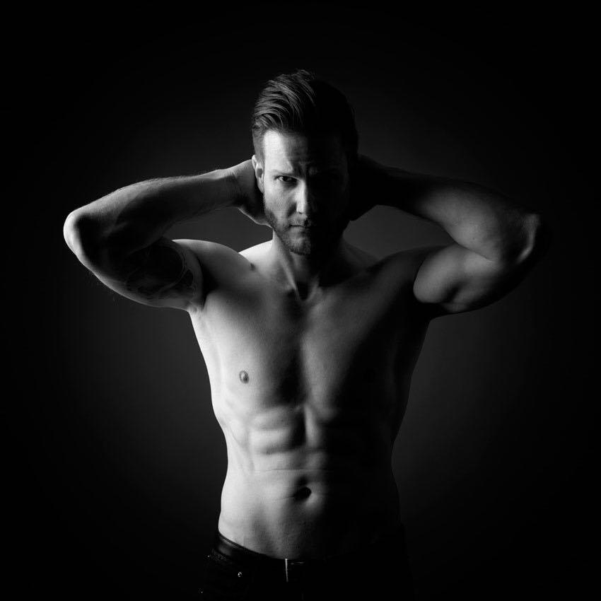 Porrait, Mann, Shape, Muskeln