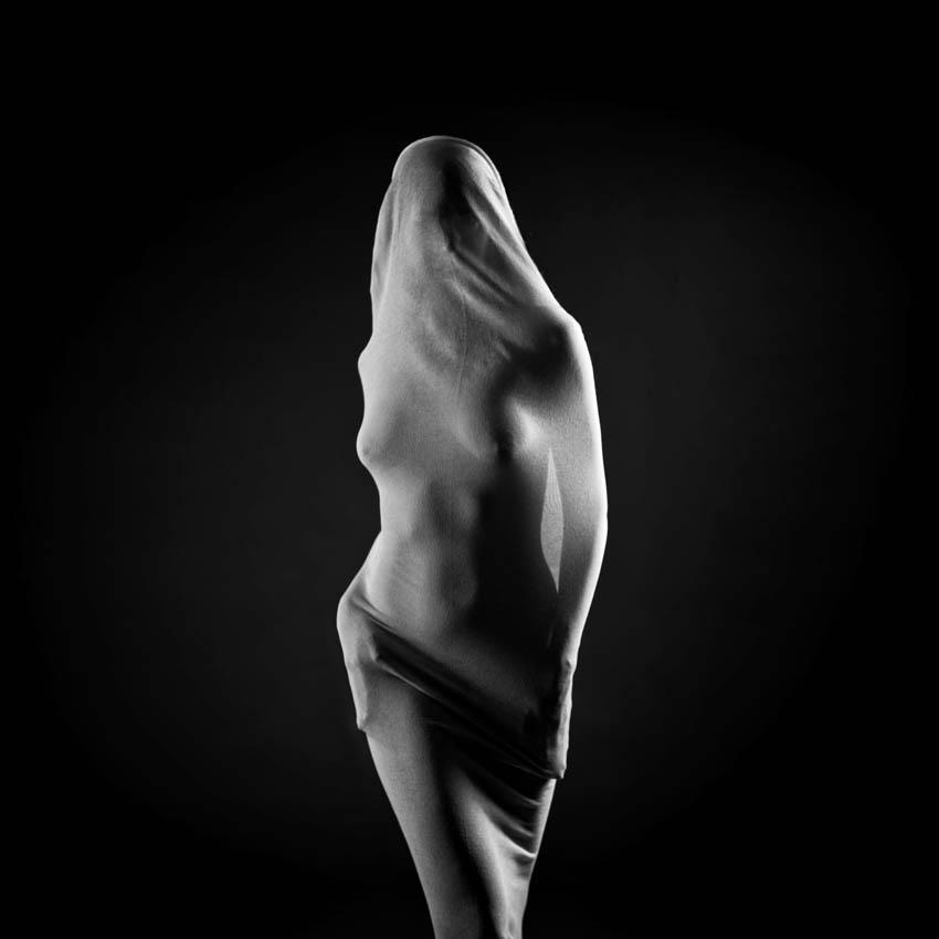 Akt, Frau, schwarz-weiß