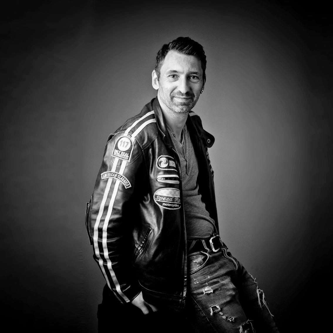 Portrait Mann, black&white Fotografie