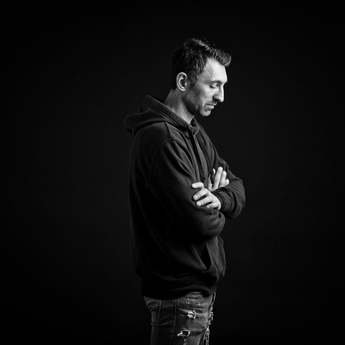 Portrait Mann, black&white
